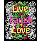 Stuff To Color . SFC 16X20 Velvet Poster Live Laugh Love Flowers Nature Abstract Calgary