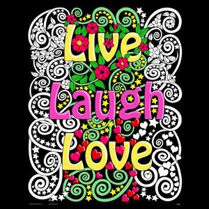 Stuff To Color . SFC 16X20 Velvet Poster Live Laugh Love