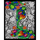 Stuff To Color . SFC 16x20 Velvet Poster Floral-Mania Colourful Art Calgary