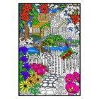 Stuff To Color . SFC 22X32.5 Wall Poster Hidden Cottage Nature Animals Colourable Calgary