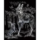 Royal (art supplies) . ROY Engrave Art Silver - Fawn & Bunny Nature Animals Calgary