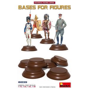 Miniart . MNA Bases For Figures 6pc