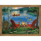 Royal (art supplies) . ROY Lakeside Retreat Paint By Numbers Nature Art Calgary