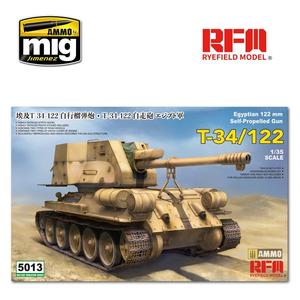 Rye Field Model . RFM 1/35 T-34/122 Egyptian