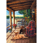 Dimensions . DMS Log Cabin Porch - Paint By Number 14 x 20