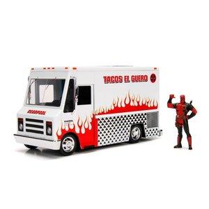 Jada Toys . JAD 1/24 Hollywood Rides - Deadpool Food Truck w/Deadpool