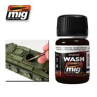 Ammo of MIG . MGA DARK BROWN WASH FOR GREEN VEHICLES