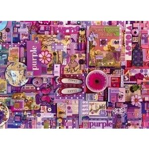 Cobble Hill . CBH Purple 1000Pc Puzzle
