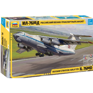 Zvezda Models . ZVE 1/144 Russian IL76 MD Strategic Airlifter Aircraft