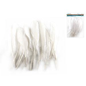 "MultiCraft . MCI 8"" Goose Feathers x12 H) White"