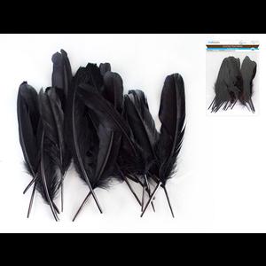 """MultiCraft . MCI 8"""" Goose Feathers x12 A) Black"""