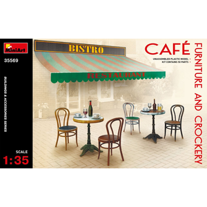 Miniart . MNA 1/35 Cafe Furniture & Crockery