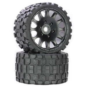 Scorpion Belted Monster Truck Wheels/Tires (pr.), Pre-mounted