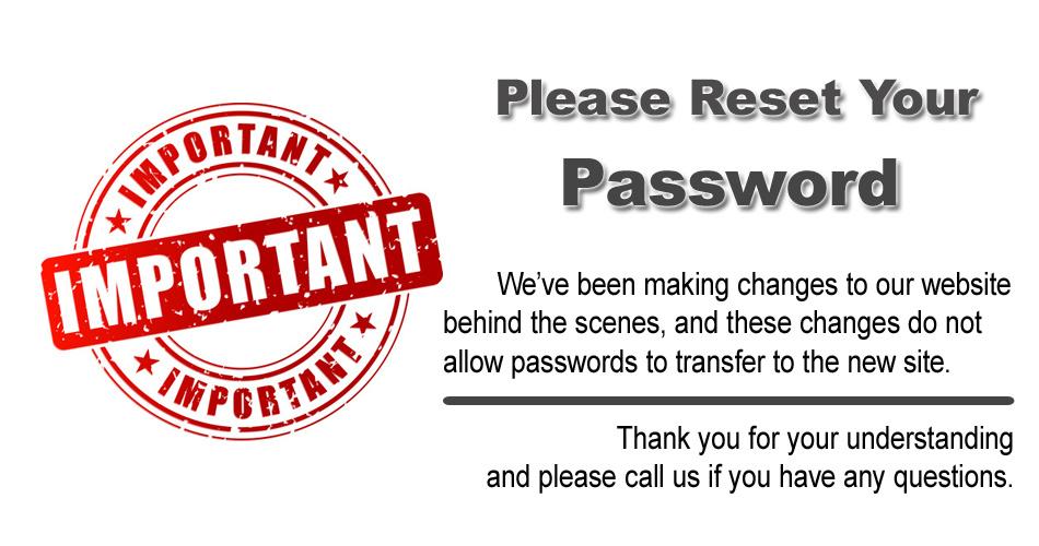 Please reset your password