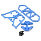 RPM . RPM Rear Bumper (Blue) (Slash 4x4)