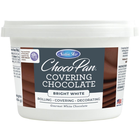 Satin Fine Foods . SFF Satin Ice ChocoPan Covering Chocolate 1lb Pail Bright White