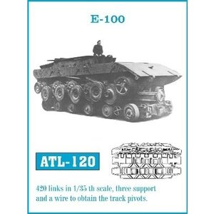 Friul Model . FRI 1/35 E100 TANK TRACK LINK SET