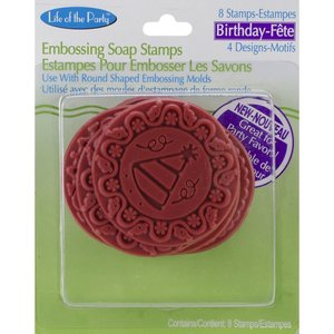 "Life of the Party . LFP (DISC)-""Birthday"" Soap Embossing Stamps 8pcs"