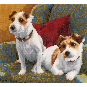 "LanArte . LAN Best Friends For Life (27 Count) - LanArte Counted Cross Stitch Kit 11.2"" X 11.2"""
