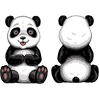 Needleart World . NLW Panda Bear Needlepoint Canvas