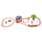 Big Jigs Toys Ltd. . BJT Fire Station Train Set