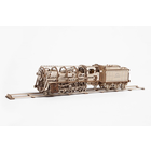 UGears . UGR Steam Locomotive with Tender - 443 pieces