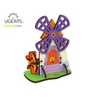 UGears . UGR UGears Mill 3D-puzzle Coloring Model - 23 pieces