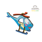 UGears . UGR UGears Helicopter 3D-puzzle Coloring Model - 8 pieces
