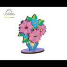 UGears . UGR UGears Bouquet 3D-puzzle Coloring Model - 8 pieces Calgary