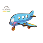 UGears . UGR UGears Airplane 3D-puzzle Coloring Model - 15 pieces