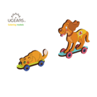 UGears . UGR UGears Kitten & Puppy 3D-puzzle Coloring Model - 15 pieces Calgary