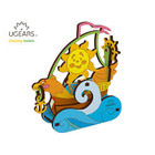 UGears . UGR UGears Sailboat 3D-puzzle Coloring Model - 17 pieces