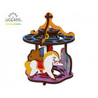 UGears . UGR UGears Merry-go-round 3D-puzzle Coloring Model - 23 pieces