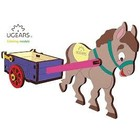UGears . UGR UGears Donkey 3D-puzzle Coloring Model - 23 pieces