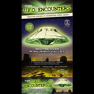 """Atlantis Models . AAN 5"""" Monument Valley UFO Glow In The Dark"""