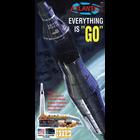Atlantis Models . AAN 1/110 Atlas Rocket With Mercury Capsule
