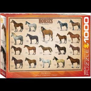 Eurographics Puzzles . EGP Horses - 1000 Pc Puzzle