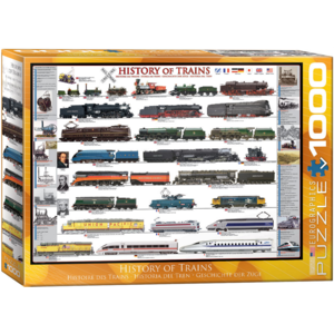 Eurographics Puzzles . EGP History of Trains – 1000pc Puzzle