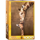 Eurographics Puzzles . EGP Giraffe Mother's Kiss – 1000pc Puzzle