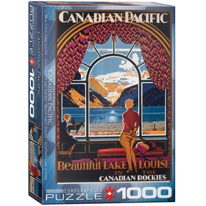 Eurographics Puzzles . EGP Beautiful Lake Louise – 1000pc Puzzle