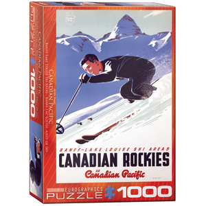 Eurographics Puzzles . EGP Banff lake Louise Ski Areas – 1000pc Puzzle