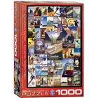 Eurographics Puzzles . EGP Railroad Adventures – 1000pc Puzzle Collection Nature Train Calgary