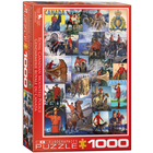 Eurographics Puzzles . EGP RCMP Collage – 1000pc Puzzle Collection Painting Calgary