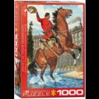 Eurographics Puzzles . EGP RCMP Train Salute – 1000pc Puzzle Animal Nature Horse Calgary