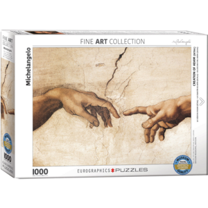 Eurographics Puzzles . EGP Creation of Adam (Detail) – 1000pc Puzzle