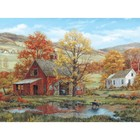 White Mountain Puzzles . WMP Friends in Autumn 1000pc Puzzle