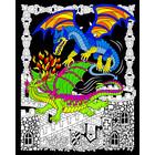 Stuff To Color . SFC 16x20 Velvet Dueling Dragons Nature Fantasy Animals Art Calgary