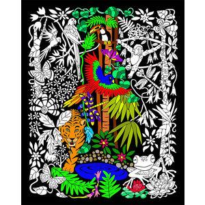 Stuff To Color . SFC 16 x 20 Velvet Rainforest