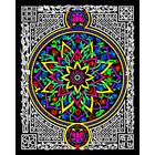 Stuff To Color . SFC 16 x 20 Velvet Lotus Abstract Design Art Calgary