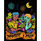 Stuff To Color . SFC 16x20 Velvet Art Zombie Love Cartoon Calgary